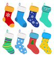set christmas socks vector image