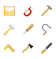 Set of 9 editable tools icons includes symbols