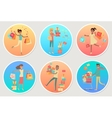 Set of Banners Sale with People Gifting Boxes vector image vector image