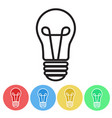 set of bulbs icon button flat design vector image