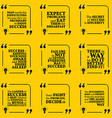 Set of motivational quotes about achievement vector image vector image