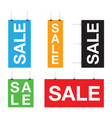 set of sale hanging signs vector image vector image