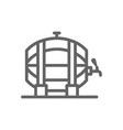 simple beer or wine barrel line icon symbol and vector image