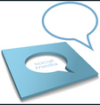 social media speech bubble box cut out vector image