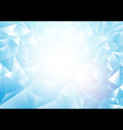 Soft blue abstract Triangles background vector image vector image