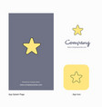 star company logo app icon and splash page design vector image vector image