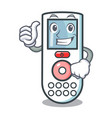 thumbs up remote control character cartoon vector image