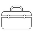 tool box professional icon black color flat style vector image vector image