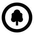 tree black icon in circle vector image vector image