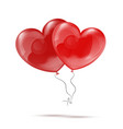 Two 3d Red Heart Balloons vector image vector image