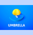 umbrella isometric icon isolated on color vector image