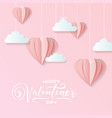 valentines craft paper design contain pink vector image vector image
