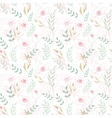 Vintage floral seamless pattern with flowers drawn vector image