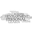 What you can learn about personal development