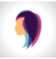 Woman silhouette concept emblem of beauty or vector image vector image