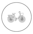 womans bicycle with basket womens beach cruiser vector image vector image