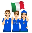 young french soccer fans vector image vector image