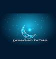 creative design crescent moon on glowing backgroun vector image