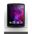 Digital Tablet Pc With Purple Screen vector image