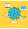 Distance education concept vector image