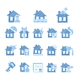 Property and House Insurance Icon Set vector image