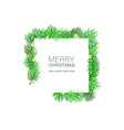 a christmas square shaped layout background with vector image vector image