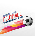 abstract football soccer tournament background vector image vector image