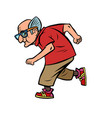 active sports old man runner vector image