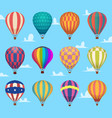 air balloons festival romantic flight outdoor hot vector image vector image