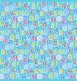 alphabet pattern seamless vector image vector image
