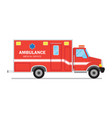 ambulance car medical service vector image vector image