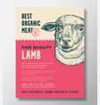animal portrait organic meat abstract vector image vector image