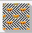 Animal seamless pattern collection with fox 7 vector image vector image
