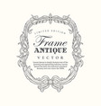 antique frame hand drawn vintage label banner vector image vector image