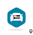 auto repair logo car silhouette with wrench vector image vector image