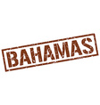 Bahamas brown square stamp vector image vector image