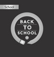 black and white style icon back to school pencil vector image vector image