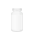 Blank white cylindrical box vector image