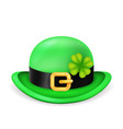 bowler hat saint patrick day ireland feast 3d vector image vector image