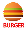 burger logo or icon for cafe creative flat vector image