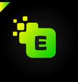 business corporate square letter e font logo vector image