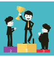 Businessmen congratulated the winners vector image vector image