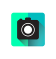 Camera flat icon design long shadow vector image