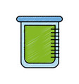 Chemical beaker icon vector image