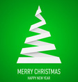 Christmas tree made of folded paper origami 11 vector image vector image