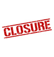 closure stamp vector image vector image