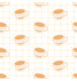 cute cup coffee seamless pattern background vector image vector image