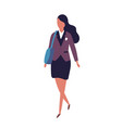 cute funny young teenage girl dressed in uniform vector image vector image