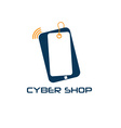 cyber phone shop design template vector image vector image