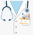 doctor white coat with stethoscope vector image vector image